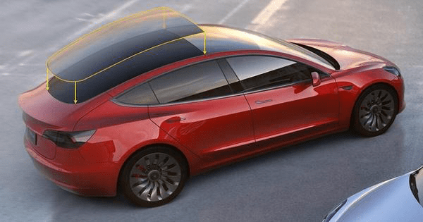 Tesla Model 3 full back window