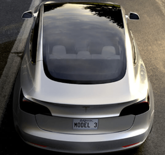 Tesla Model 3 untinted